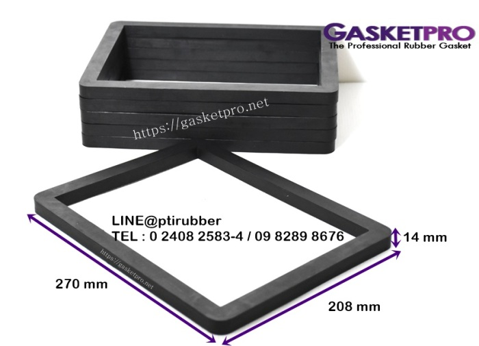 รับผลิตปะเก็นยางNR สีดำ ความหนา 14 mm